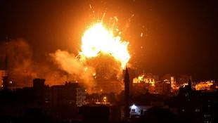 Gazze alev alev ! İsrail yine saldırdı: Ölü ve yaralılar var