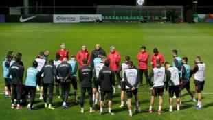 A Milli Takım İsveç maçının hazırlıklarını sürdürdü