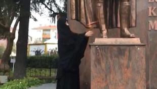 Atatürk büstüne baltayla saldırmıştı, serbest bırakıldı