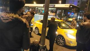 İstanbul'da skandal ! Taksiciden turiste dayak