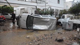 Bodrum'da sağanak yağış felaketi !