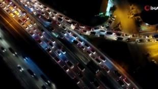 E-5 uyanıkları trafikten kaçtı cezadan kaçamadı