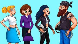 Resimdeki kadınlardan hangisi adamın eşi ?