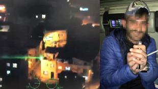Polis helikopterine lazer tutunca gözaltına alındı