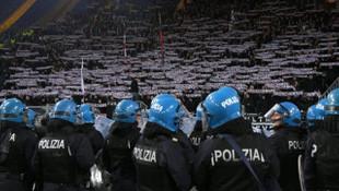 Lazio - Eintracht Frankfurt maçında olaylar çıktı!