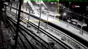 İşte Ankara'daki hızlı trenin çarpma anı