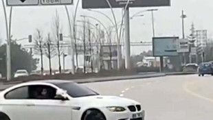 Ankara'daki drift yapan sürücüye ceza yağdı