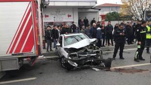 E-5'te trafik kazası: Yaralılar var