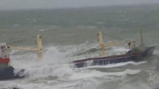 Şile'de gemi karaya oturdu