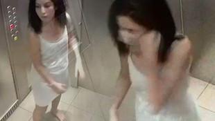 Meğer her şey yalanmış... Asansörde skandal görüntü