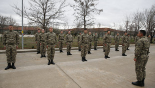 Bedelli askerlerin eğitimi böyle görüntülendi