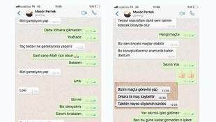 WhatsApp yazışmaları şikeyi ortaya çıkardı !