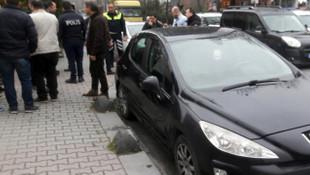 İstanbul'da hastane önünde hareketli dakikala