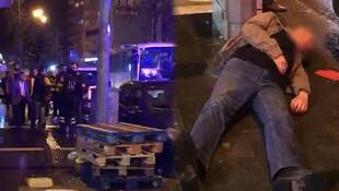 Ambulansı takip edip önüne kırdı !