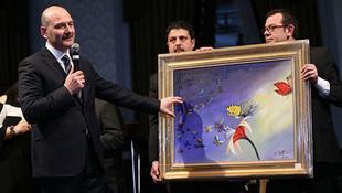 Süleyman Soylu'nun yaptığı resim 500 bin laraya satıldı