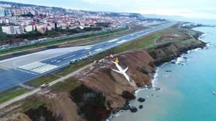 Trabzon Havalimanı'nda onarım başlatıldı