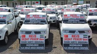 Sedat Peker'den ÖSO'ya düzinelerce arazi aracı