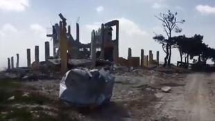 Afrin'de teröristlerin eğitim kampı görüntülendi