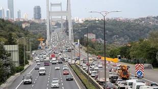 Köprüden 117 kez kaç geçen sürücüye büyük şok