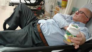 Kavanoza koyarak hastaneye gitti