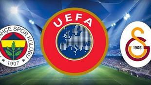 UEFA'dan Fenerbahçe ve Galatasaray kararı