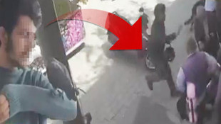 Hamile kadına sokak ortasında saldırdı !