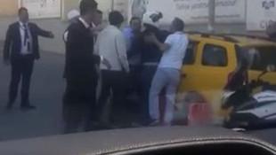 Taksici fazla para istedi iddiasıyla kıyameti koparttı !