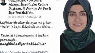 AK Partili kadın başkandan muhaliflere ''kafirler'' çıkışı