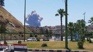 Suriye Hama havalimanında patlama