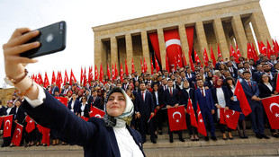 Ankara'da ilk törenden görüntüler