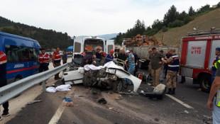 Feci kaza ! 3 genç kız hayatını kaybetti