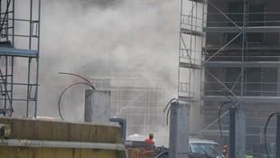 İstanbul'da lüks site inşaatında yangın paniği