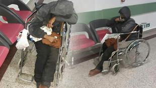 15 gündür tekerlekli sandalyede yaşıyor