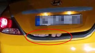 İstanbul'da taksinin bagajını görenler dondu kaldı