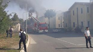 KKTC'de öğrenci yurdunda yangın !