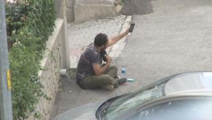 Ankara'da sıcak dakikalar ! Kafasına silah dayadı