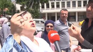 Erdoğan hayranı kadın sosyal medyayı salladı: ''Yaşa Tayyip aşkım''