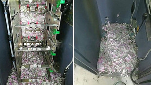 Fareler ATM'ye girdi, 9 milyon TL yedi !