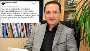Fizik profesöründen skandal tweet