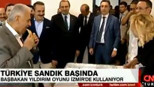 Başbakan Yıldırım'ın sandık başındaki görüntüsü sosyal medyayı salladı
