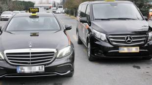 Taksilerde yeni dönem ! Siyah ve turkuaz taksi...