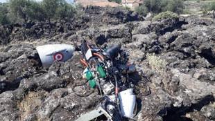Yerli insansız hava aracı Hatay'da düştü