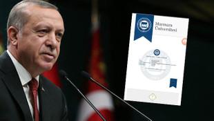 İşte Erdoğan'ın mezuniyet belgesi