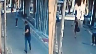 Genç kız kendisine laf atan adamı silahla kovaladı