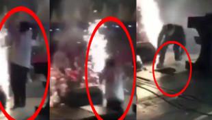 Murat Dalkılıç'ın sahnesinde zemin çöktü