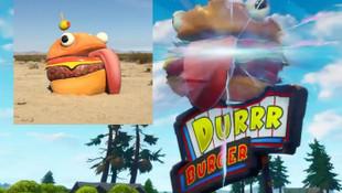 Fortnite'ın 'kaybolan hamburgeri' Kaliforniya'daki çölde ortaya çıktı