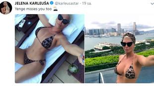 Jelena Karleusa'dan bomba paylaşım !