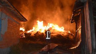 Tosya'da 8 ev tamamen yandı