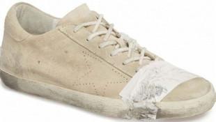 Sosyal medyayı sallayan eskitilmiş ayakkabı