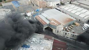 İstanbul'da sanayi sitesinde korkutan yangın